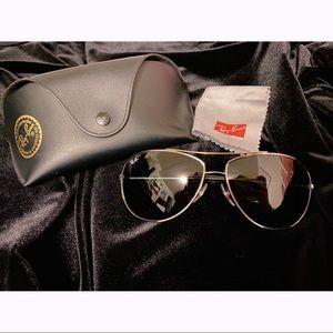 Ray Ban Bubble Wrap 63mm Metal Aviator Sunglasses